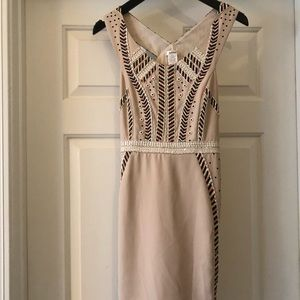 Light pink, beaded dress